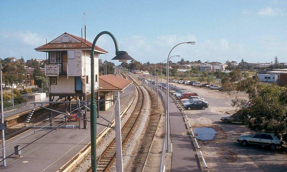 Subiaco train station before sinking of the railway