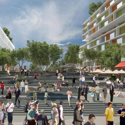 Artist Impression Milligan Plaza Looking North Towards Roe Street