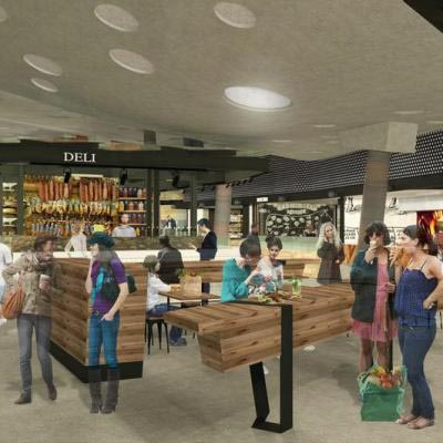 Artist Impression Of Yagan Square Market Hall Interior