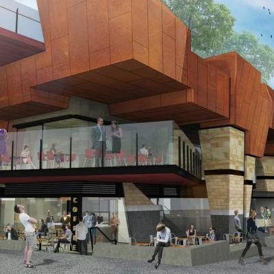 Artist Impression Of Yagan Square Market Hall Plaza