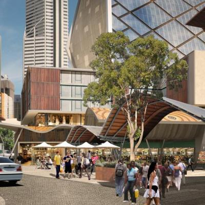 Artist Impression Queen Square Looking South To Cbd