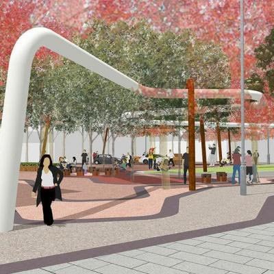 King Street Road Extension And Public Open Space Artist Impression