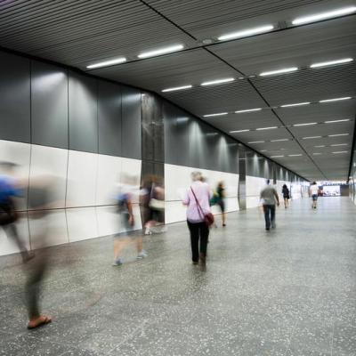 The New Pedestrian Underpass Linking Passengers From The Perth Underground Station To All Platforms In Perth Station