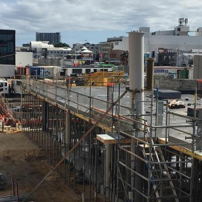 View West Of Market Hall Under Construction At Yagan Square August 2016
