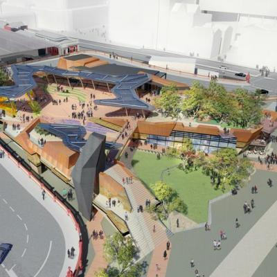 Yagan Square Aerial Artist Impression View South To Cbd