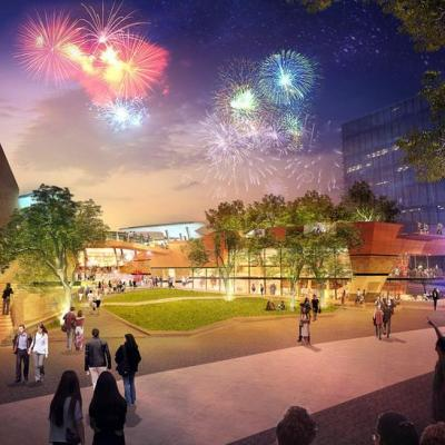 Yagan Square Artist Impression View South To Cbd 2
