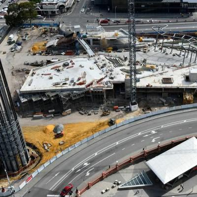 Yagan Square Construction Aerial View February 2017