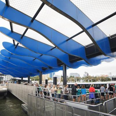 This Artwork Atop The Transperth Ferry Terminal Canopy Examines Ideas About Air